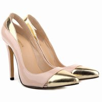 Cheap high heel yellow pumps shoes for women Best chaussure femme jaune