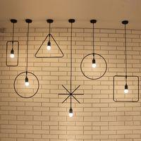art deco dining room sets - Pendant lights Simple Design Loft home lights metal combination sets metal lights art decor