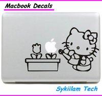 hello kitty laptop skin - Hello Kitty Water Flower for apple Sticker Macbook Skin Air Pro Retina Decal Laptop Auto Vinyl Logo Label Case