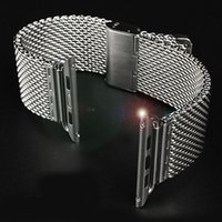 Wholesale Ultra Thin watch bracket For Apple Watch Band Milanese stainless steel wristband For iwatch Watchbands mm