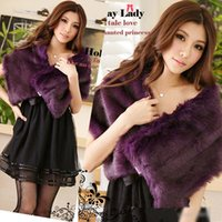 Wholesale Ladies Wedding dresses evening wear shawl Faux Fur fox fur Shrug Bolero Cape Wrap Shawl Stole Tippet Coat Bridal Wedding