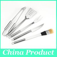 Wholesale High Quality BBQ Qccessories Stainless Steel Barbecue Tools Set Spatula Tongs And Fork Grill BBQ Grilling Tools Set