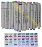 barrel marker - color finecolour sketch marker set to manga fashion design alcohol base ink Oval barrel double tips cheaper than Copic