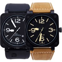 bell - Men s Luxury Sport Stainless Steel Automatic Mechanical Classic Rubber Brown Leather Strap Bell BR BR01 Watch
