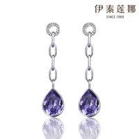 aegean silver - Aegean earrings Italina Korean pop jewelry Austrian crystal earrings imported