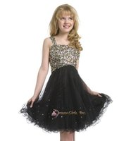 Cheap Girl's Pageant Dresses PRE-TEEN Flower children dress shinning beads sequins ball gowns