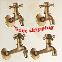 antique brass finish bathroom faucets - Single Cross Handles Bathroom Washing Machine Mop Pool Faucet Antique Brass Finished