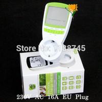 ac power consumption monitor - EU Plug energy meter power V A AC KWH Consumption Monitor Analyzer