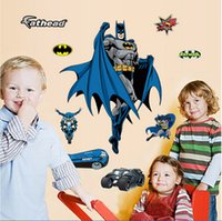 Wholesale AAA quality CM kid boy girl batman bedroom setting wall stickers removed creative home decoration christmas gift topB1474