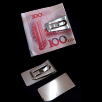 Wholesale New Design Slim Money Wallet Clip Clamp Card Stainless Steel Credit Business Card Holder NIVE