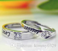 Wholesale Sterling Silver Ring lovers ring Korean men and women live on a silver ring opening engagement ring