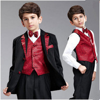 Wholesale Boy s Formal Wear Children s Business Suit Flower Girl Dress The Boy s Costumes Student Chorus Of Clothing Mini Suit C