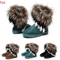 Wholesale Warm Flats Shoes Woman Snows Boot Fur Women Boot Botas Masculinas Botas Femininas Winter Boots Womens Shoes Suede High Ankle Boot