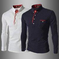 Wholesale NEW HOT FASHION Men s Slim Fit Long Sleeve T shirt POLO Shirt Size M L XL XXL