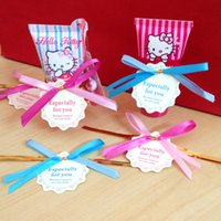 Wholesale 100 Bowknot Twist Ties With Gift Tag For Candy Cello Bag Seal Decor