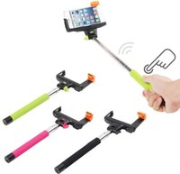 Cheap Wireless Bluetooth Tripod Extendable Handheld Monopod Selfie Stick with Remote Button Clip Holder For iPhone Samsung IOS Android Smart Phone