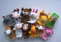 Wholesale 2015 To Months To Months Hot Sale Unisex Retail Baby Plush Toy Finger Puppets Talking Props Animal Group set