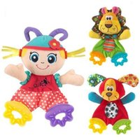 Wholesale 2015 retail Baby Infant Perferred Appease Doll Toy Teether Developmental Soft Toys Years