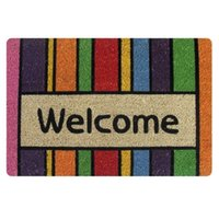 Wholesale New Anti Slip Floor Mat Front Welcome Doormat Entrance Door Mat Striped Carpet For Living Room Bathroom Kichen Rug Home Decor