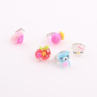 Wholesale Children Kids Girls Cartoon Hello Kitty Rings lovely animation cartoon child Resin ring jewelry jewellery ZR43