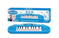 Wholesale 30 Musical instruments toy for kids Frozen girl Cartoon electronic organ toy keyboard electronic baby piano with music song