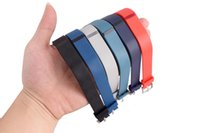 Wholesale TPE TPU Replacement Fitbit Flex Wristband Activity Bracelet Wrist Strap With Metal Clasp Without Tracker color choose