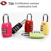 Wholesale TSA Luggage Strap Locks Digit Plastic Alloy Lock Password Customs Luggage Padlock Combination Suitcase Padlock Luggage Travel Lock