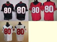 andre houston - Newest Men s Houston Andre Johnson Blue White Red Elite Jerseys Football Jerseys Good quality