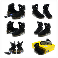 western boots - 2011 Limited Edition Air Mag Black Gold Back to the Future II Mcfly Mags Light Up Sneakers Led Lights Shoes Men Boots