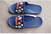 plastic slippers - Hot New Summer Fashion Massage Shoes Men Flat Sandals Flats Plastic Beach Open Toe Slippers Casual