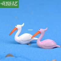 access hand - mini microlandschaft cute craft Moss Micro Landscape Decoration simulation cartoon flamingo toy doll hand to do meaty Access
