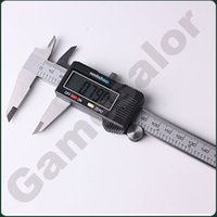 Wholesale 6 quot mm Digital Vernier Caliper Micrometer Guage Widescreen Electronic Accurately Measuring Stainless Steel