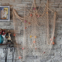 Wholesale Hot new arrival Fishing Net Seaside Wall Bedroom Beach Party bar Decoration Sea Shells Wall Ceiling Decor