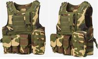 Wholesale Tactical vest USMC Airsoft Tactical Military Molle Combat Assault Plate Carrier Vest Colors CS clothing Professional sales