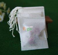 heat seal tea bags - 50X62mm Empty Teabags String Small Biodegradable Tea Bags Heat Seal Filter Paper Herb Loose Leaf Tea Bags