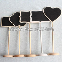 wedding place card holders - x Mini chalkboards on the stick Place holder For Wedding Party Christmas Decorations Table Numbers Place Card