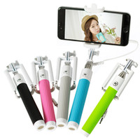 alloy steel wire rod - multi function all in one foldable with groove Cable Take Pole Self Timer Kit Extendable Monopod Handheld Selfie Stick Rod Wired