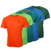 Wholesale M XXL Men Outdoor Running Jersets Moisture Wicking Short Sleeve Sports Men Clothing Jerseys Styles Polyester Jerseys for Sale