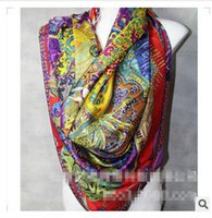 Wholesale 5 colors Cavaliers du Caucase Cashmere Silk Shawl Scarf CM big size luxury scarves Twill silk silk Scarves christmas gift m506