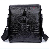 best small business - price best selling business casual man bag crocodile pattern leather shoulder bag Messenger Bag