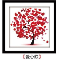 Wholesale Needlework D DIY Round Diamond Painting Kit Cross Stitch Embroidery Rhinestone Pasted Painting Tree cm
