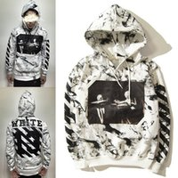 Wholesale SS Pyrex SS C O Virgil Abloh OFF WHITE Hoodies Religious skull stripe print Pullovers Men Cotton Hooded sweatshirt