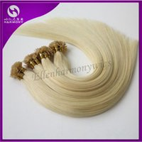 Cheap STOCK 100% Human Hair Flat Tip Hair Extensions Straight Dyeable Brazilian Hair Remy Hair Customize Shedding Tangle Free 20inch