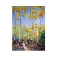 aspen trees painting - Aspen Forest Yellow Trees Landscape Frameless draw Oil Painting