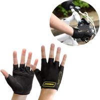 bicycle half finger gloves - Black Half finger Bicycle Gloves Authentic MTB gloves Bicycle Road Bike Cycling Gloves Mountain Bike Mitten CYC_90J