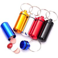 drugs - 6pcs Waterproof Aluminum Pill Box Case Bottle Cache Drug Holder Keychain Containe MD202