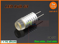 Dimmable LED High Power Lampe COB 3W 12V 30W G4 Remplacer lumière halogène 360 Angle de faisceau de Crystal LED garantie d'ampoule lustre deux années