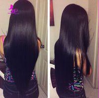beautiful auburn - New beautiful glueless full lace human hair wigs straight brazilian virgin human hair front lace wigs density for black women