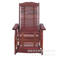 Cheap Ancient Chinese trade wood living room furniture leisure beach chairs Myanmar pear siesta rocking chair