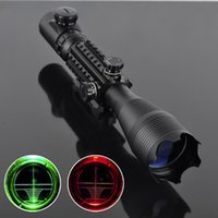 Wholesale New Hunting Riflescope x50 Red Green Illuminated Reticle Laser Scope Waterproof Sniper Scope mm rail mount Y0816